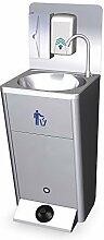 mobiles Handwaschbecken mobil Verkaufsstand Waschbecken Edelstahl Spülbecken