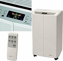 Mobiles Klimagerät mit Fernbedienung Entfeuchter Luftkühler Ventilator Abluftschlauch Mobile Klimaanlage 780 Watt (LED-Display, Fensterabluft, 4 Rollen, Timer, 3 Stufen, 4 Filter, Kühlleistung 7000 BTU, leise 65dB)