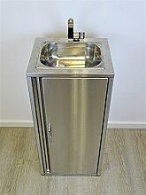 Mobiles Waschbecken komplett aus Edelstahl /