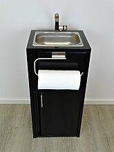 Mobiles Waschbecken Schwarz Inklusive