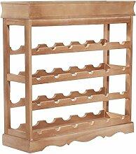 Mobiletto Weinregal für 24 Flaschen Holz 70 x