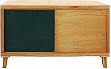 Mobili Rebecca® Fernsehtisch Schrank 2 Schiebetüren Holz Braun Grün Wohnzimmer Flur Wohnzimmer Modern (Cod. RE6057)