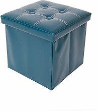 Mobili Rebecca® Sitzbank Sitzhocker mit Aufbewahrungsfunktion Kunstleder Grün mit gepolsterter Sitzfläche Wohnzimmer Kinderzimmer 38 x 38 x 38 cm (Cod. RE4921)