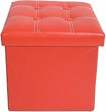 Mobili Rebecca®Sitzbank Sitzwürfel Aufbewahrungsbox Kunstleder Rot Modern Wohnbereich Schlafzimmer 30 x 30 x 30 cm (Cod. RE4900)