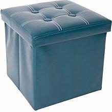 Mobili Rebecca® Sitzwürfel mit Stauraum Aufbewahrungsbox Kunstleder Grün Modern Wohnbereich Kinderzimmer 30 x 30 x 30 cm (Cod. RE4902)