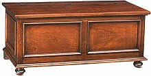 mobilificio Bisco Capri Sitzbank mit Fuß gedreht, Holz, Walnuss, 122x 45x 48cm