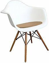 Mobistyl® PADA-M-1 1x Premium-Kissen Kunstleder geeignet für Stuhl im Stil von Eiffel braun