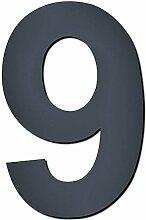 MOCAVI Design V4A Edelstahl Hausnummer anthrazit