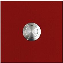 MOCAVI RING 110 Edelstahl-Design-Klingel rubin-rot