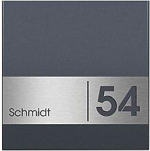 MOCAVI ZBox 111 Zaunbriefkasten mit Hausnummer und