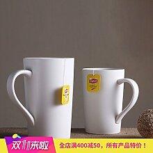 mocer aus Keramik-Becher mit Fassungsvermögen mit Deckel Löffel Kaffee-Tasse Milch-Tasse mit 3 Ounces Solidlid Bamboo Porcelain Spoon