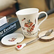 MOCER Einfache Tasse Keramiktasse Kreatives Paar