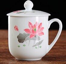 MOCER Porzellan Hand-Painted Keramik Becher mit