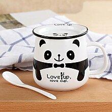 mocer Porzellan Tee Tasse Kaffee Büro Tasse cute