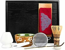 Mocha ChaDao Matcha Traditionelles Tee-Set | lila