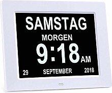 MOCNP Digital Wecker, Digitaler Kalender Tag Uhr