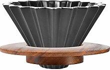 Mocohana Keramik-Kaffeebereiter mit Holzständer,