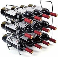 MOCREO Weinregal, 3-stöckig, 12 Flaschen,