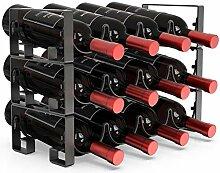 MOCREO Weinregal Organizer für 12 Flaschen,