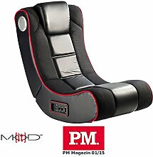 Mod-it Sessel: 2.1-Soundsessel mit Vibration für Gaming & Film, Bluetooth, schwarz (Gamer Sessel)