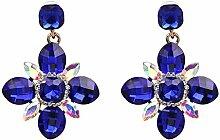 Mode-Accessoires Legierung Glas Blumen Ohrringe Schmuck , Blau