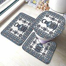 Mode Bad Teppich Matten Set 3 Stück Lampe