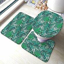 Mode Badezimmer Teppich Matten Set 3 Stück Blumen