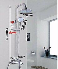Mode Badezimmer Wand Regen Dusche Wasserhahn Set