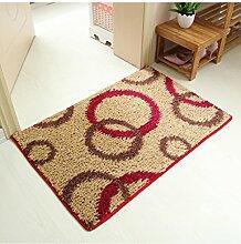 Mode Blumenmuster Umweltschutz Anti-Rutsch-Rechteck Kreative Wasseraufnahme Saal Badezimmer Schlafzimmer Küche Teppich ( Farbe : A , größe : 40*60cm )