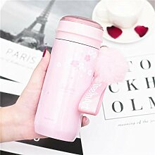 Mode Edelstahl Kirschblüten Wasser Tasse