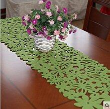 Mode einfach pastorale Filz Tischläufer Blume