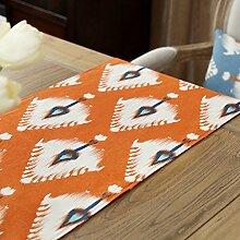 Mode einfachen geometrischen Baumwolle Tischl?ufer/Bett-banner/TV-Schrank-B 35x160cm(14x63inch)