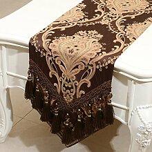 Mode einfachen Tischl?ufer/?stliches Mittelmeer Esstisch Couchtisch Flagge/Bett-banner-E 33x200cm(13x79inch)