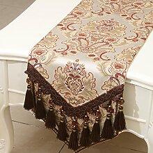 Mode einfachen Tischl?ufer/?stliches Mittelmeer Esstisch Couchtisch Flagge/Bett-banner-N 33x300cm(13x118inch)