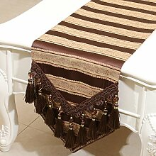 Mode einfachen Tischl?ufer/?stliches Mittelmeer Esstisch Couchtisch Flagge/Bett-banner-B 33x180cm(13x71inch)