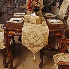 Mode Europäisch Anmutenden Tischdecke Tee Tischläufer Bett-läufer-A 35x180cm(14x71inch)