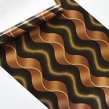 Mode gestreifte Wellen Tapete für Wände KTV Bar