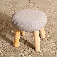 Mode Hocker Massivholz einfache kleine Sitzbank ändern Schuh Hocker sofa Hocker kreative niedrigen Hocker abnehmbaren kleinen Hocker, E, 30 * 28 cm