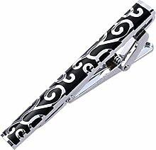 Mode-Krawatte Krawattenklammer Luxus Tie Bar Krawattennadeln für Herren Schwarz