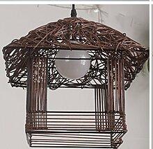Mode-Kronleuchter-WXP Garten-Kunst-Licht moderne minimalistische kreative Persönlichkeit Schlafzimmer Restaurant Terrasse Kronleuchter Schlafzimmer Lampen Kronleuchter-WXP ( farbe : Braun )
