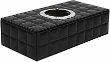 Mode Leder Auto Tissue-Boxen,Black