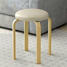Mode Massivholz Runde Stuhl Stuhl Einfache High Stuhl Haus Kleine Bank Low Hocker ( farbe : # 13 )