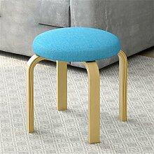 Mode Massivholz Runde Stuhl Stuhl Einfache High Stuhl Haus Kleine Bank Low Hocker ( farbe : # 2 )