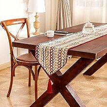 Mode Neue Amerikanische Einfache Jacquard-Streifen Heimtextilien Tisch Tisch Flagge Bett Flagge,32*200cm