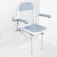 Mode praktisch Elderly Badezimmer-Hocker / Faltender Schemel / Beine mit Armlehnen-Schemel / Wand-Schemel (2 Farben wahlweise freigestellt) (Farbe wahlweise freigestellt) ( farbe : Custom Height )