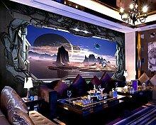 Mode Raumschiff Tapete Für Wände 3 D