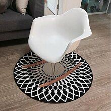Mode runden Teppich/ Haushalt Tür Decke/Schlafzimmer Teppich in der Studie-B diameter120cm(47inch)