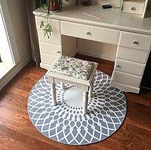 Mode runden Teppich/ Haushalt Tür Decke/Schlafzimmer Teppich in der Studie-A Durchmesser80cm(31inch)