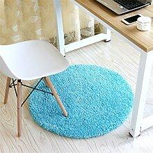Mode runden Teppich Schlafzimmer Wohnzimmer Bedside Korb Decke Studie Computer Stuhl Drehstuhl Stuhl Teppich rutschfeste Fuß Pad Yoga Matten ( größe : Diameter 100cm )