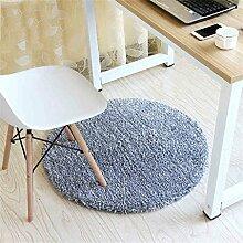 Mode runden Teppich Schlafzimmer Wohnzimmer Bedside Korb Decke Studie Computer Stuhl Drehstuhl Stuhl Teppich rutschfeste Fuß Pad Yoga Matten ( größe : Diameter 120cm )